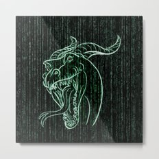 Wyrm in the Shell Metal Print