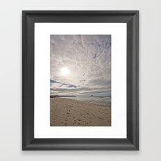 Ohope Sky Framed Art Print