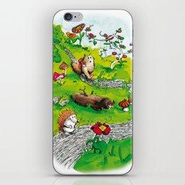 Animals wood iPhone Skin