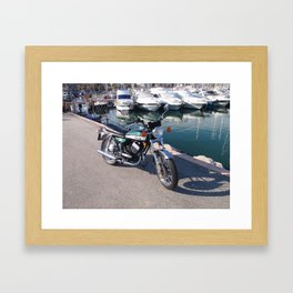 Classic Two Stroke Motorcycle Framed Art Print