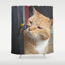 Max and Butterfly Shower Curtain