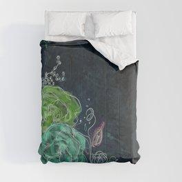 Midnight Dreams - Floral Art Comforters