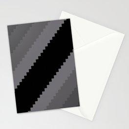 Pixel Old Hollywood Dremas - Monochrome Grey Stationery Cards