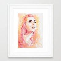 bad wolf Framed Art Prints featuring Bad Wolf by Maria Bruggeman