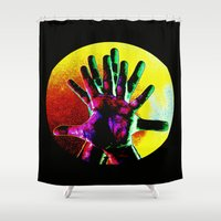 hands Shower Curtains featuring Hands by ioannart