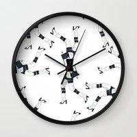 legs Wall Clocks featuring legs by Linda Leitner