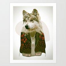 wolf jacket Art Print