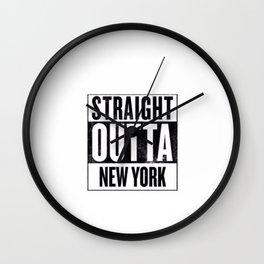 Straight Outta New York Wall Clock