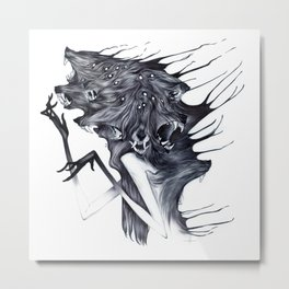 A Forest's Darkness Metal Print