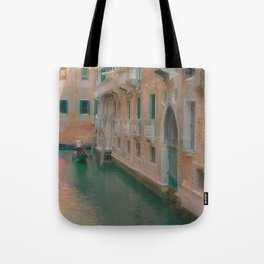 Gondolier Turquoise and Orange Tote Bag