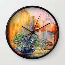 Spring in Paris Wall Clock