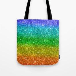 Glitter Rainbow Pride Flag Tote Bag