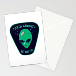 Earth gravity, let me go Stationery Cards