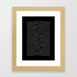 Joy Division Unknown Pleasures Framed Art Print
