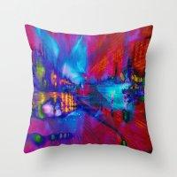 secret life Throw Pillows featuring Secret Life by Stephen Linhart