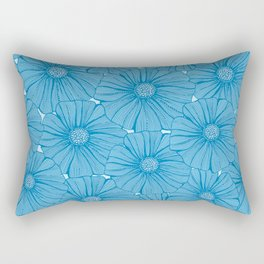 Garden in blue Rectangular Pillow