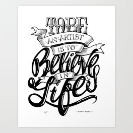 Quote - HMoore 1 - Typedesign Art Print