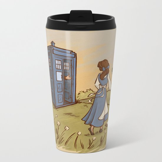 Adventure in the Great Wide Somewhere Metal Travel Mug