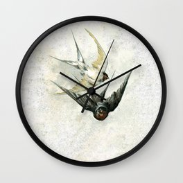 Vintage Soaring Birds Wall Clock