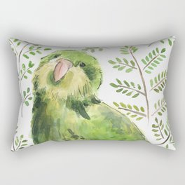 Kakapo in the ferns Rectangular Pillow