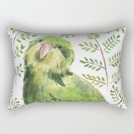 Kakapo in the ferns Rectangular Pillow