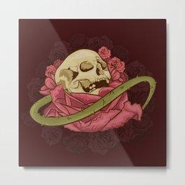 Skull N Roses Metal Print