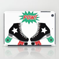 roller derby iPad Cases featuring Roller Derby POW! by Otterly Design