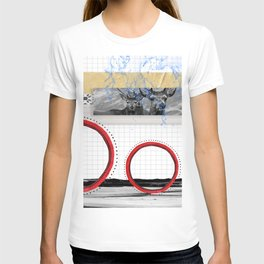 The Stags on the hill collage T-shirt