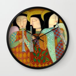 three angels Wall Clock