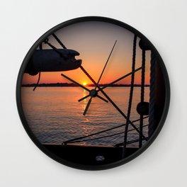 Beautiful Sailing Sunset Wall Clock