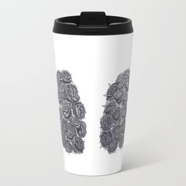 Lungs with peonies Travel Mug