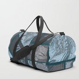 Vintage Hawaiian Tribal Fish Collage Duffle Bag