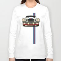 mustang Long Sleeve T-shirts featuring Martini Mustang by Marius Dumitrascu