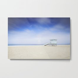 Zuma Beach Lifeguard Hut - Long Exposure Metal Print