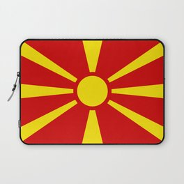 Flag of Macedonia - authentic (High Quality image) Laptop Sleeve