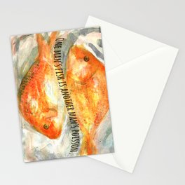 One man's fish is another man's poisson. Stationery Cards