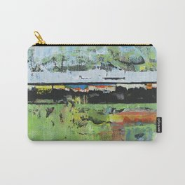 Salvation Green Abstract Contemporary Artwork Painting Carry-All Pouch