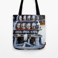 numbers Tote Bags featuring Numbers by Kent Moody