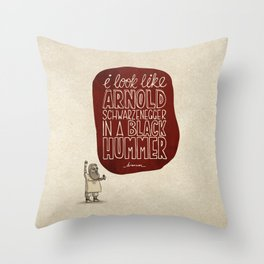 Action Bronson; What Rappers Say Series 1/8 Throw Pillow