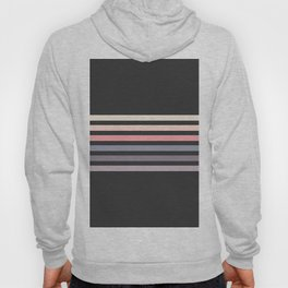 Minimal Muted Abstract Retro Stripes 70s Style - Toshitsune Hoody
