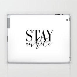 Stay Awhile Art Print - Digital Download - Stay Awhile Print - Stay Awhile Poster Laptop & iPad Skin