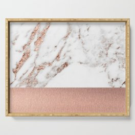 Rose gold marble and foil Serving Tray
