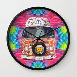 Groovy Hippie Van Wall Clock