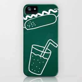 Fast Food Party on Green iPhone Case