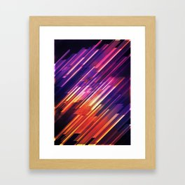 PONG - Pattern Framed Art Print