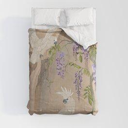 Cockatoos and Wisteria Comforters
