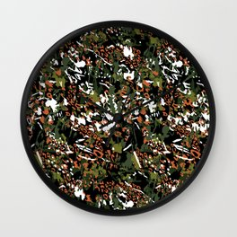 Animal skins camouflage color Wall Clock