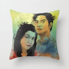 Gidget and Nino Throw Pillow