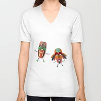 africa V-neck T-shirts featuring AFRICA by Rceeh