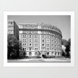 EAST FRONT - The Dresden Apartment Building, 2126 Connecticut Avenue, Washington, District of Columb Art Print